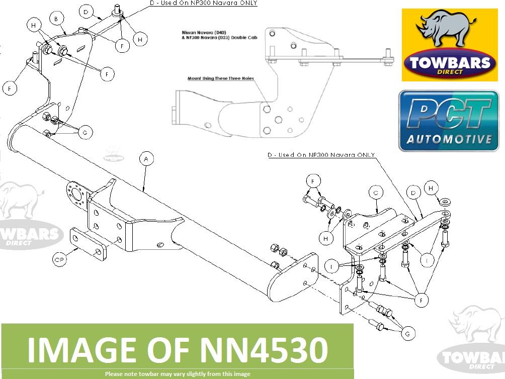 Towbar For Nissan Np300 Navara  D23  4wd Pick Up 2016on